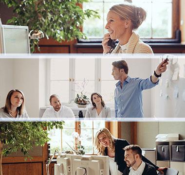 AdvoNeo Schuldnerberatung Kanzlei Situationen Büro Mitarbeiter