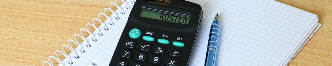 Taschenrechner mit Wort Kosten