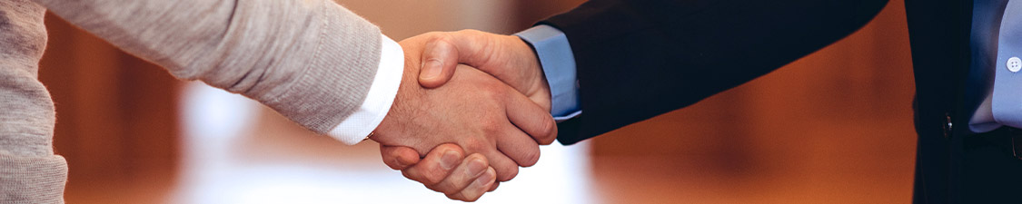 Handschlag zwei Männer Hände