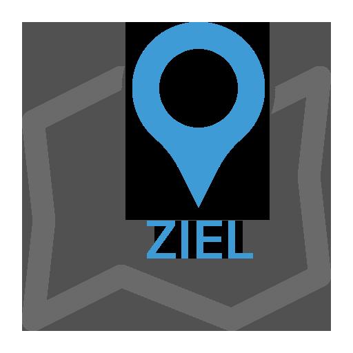 Icon Ziel auf Landkarte