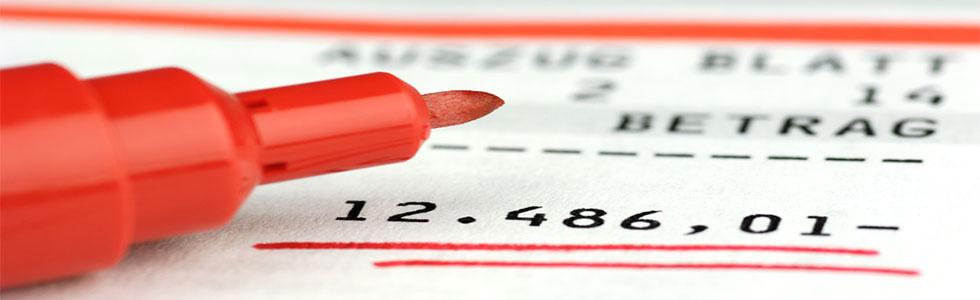 Monatliche Lücke Negativer Kontoauszug - AdvoNeo kostenlose Erstberatung